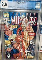 New Mutants 98 Cgc 9.6 White Pages 1st Appearance Of Deadpool