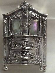 Magnificent Sterling Silver Miniature Cabinet 1896