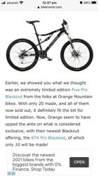 Only 10 Ever Made Orange St4 Pro Blackout Limited Edition Full Suspension Mtb