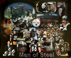 New Pittsburgh Steelers Legends Photo/poster Collage Terrible Towel, Nfl