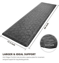 Wiselife Kitchen Mat Cushioned Anti Fatigue Floor Mat17.3x59 Thick Non Slip