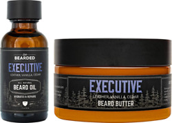 Live Bearded: Beard Oil And Beard Butter Grooming Kit Executive All Natural