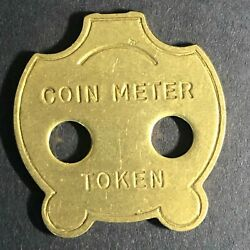 24mm Vintage Animal Shaped Cat - Panda Coin Meter Brass Token - Fauver Coll.