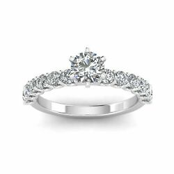 Certified 1.00ctw Diamond Solitaire Engagement Ring In 10k White Gold G-h I1