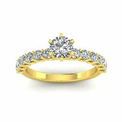 Certified 1.00ctw Diamond Solitaire Engagement Ring In 10k Yellow Gold G-h I1