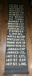 """Authentic Vintage New York City Ny Subway Roll Sign —23 Stops --over 62"""" Long"""