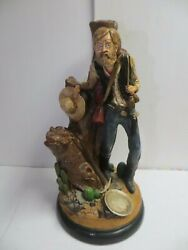1979 Apsit Bros Of Calif Gold Miner Statue Lamp Base 20 Tall