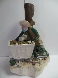 1980 Apsit Bros Of Calif Lost Dutchman Gold Mine Statue Lamp Base 22-1/2 Tall