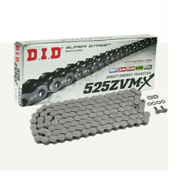 Did X Ring Motorbike Chain 525zvm-x With 124 Rolls Open With Rivet Link