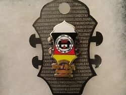 Hard Rock Cafe Pin Hollywood, Fl Hotel And Casino Core Headstock Flag Series