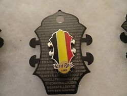 Hard Rock Cafe Pin Brussels Core Headstock Flag Series
