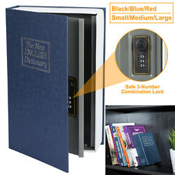 Dictionary Diversion Book Safe Box With Combination Lock Money Cash Protection