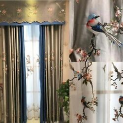 Embroidered Curtains General Pleat Window Treatment Nature Patterned Home Panels