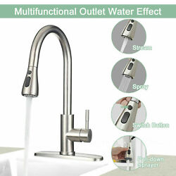 3/8 Us Kitchen Faucet Swivel Spout Single Handle Sink Pull Down Spray Mixer Tap