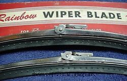 Nos Shiny Trico 12 Wiper Blades W/dots Ford Gm Chevy Caddy Buick 54 55 56 57 58