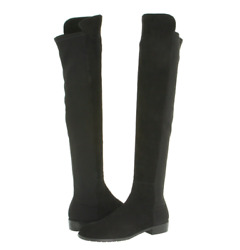 Stuart Weitzman Womens Black Suede Over The Knee Boots N4510 Size 8 W
