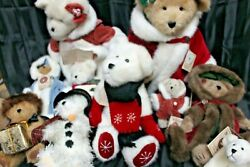 Lots Of 10 Boyds Chrismas Bear 1993 Colection