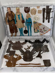 Marx Johnny West Vintage Action Figures With Accessories W/ Teepees Lot