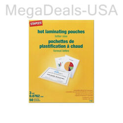 100-pack Staples 3 Mil Thermal Laminating Pouches Letter Size 17467 Je