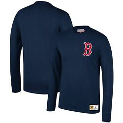 Boston Red Sox Mitchell And Ness Cooperstown Collection Slub Long Sleeve T-shirt -