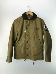 The Real Mccoy's N-1 Deck Jacket Khaki Cotton Size 38 Used From Japan