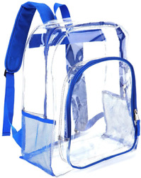 Heavy Duty Transparent Clear Backpack Plastic Bookbags See Through Backpacks for $20.22