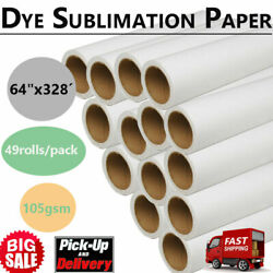 49roll 64 X 328andacute Dye Sublimation Paper Heat Transfer Paper 105gs Pickup