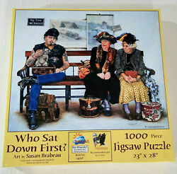 Sunsout Who Sat Down First Susan Brabeau 1000 Piece Jigsaw Puzzle Sealed