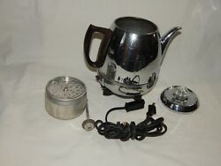 Vintage General Electric Ge Automatic Coffee Percolator 13p30 Pot Belly