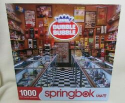 Springbok Dubble Bubble Gum/gumball Machines Candy Store1000 Piece Puzzle Used