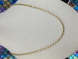 22k Chain Solid Gold Ladies Two Tone Infinity Design C0408