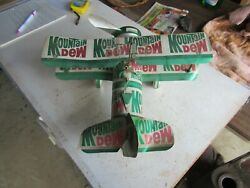 Vintage Homemade Mountain Dew Pop Can Plane 12x13x6 Lot 21-32-6