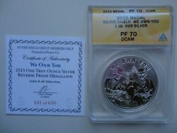 2015 1oz We Own You V1 Proof Silver Shield Pyramid Of Power 12 - 1 Coa 101