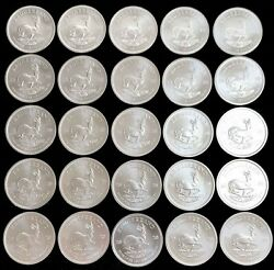 Roll Of 25 2020 Silver South Africa 1 Oz Krugerrand Coins Bu+