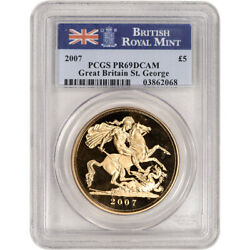 2007 Great Britain Gold St. George Proof Andpound5 - Pcgs Pr69 Dcam