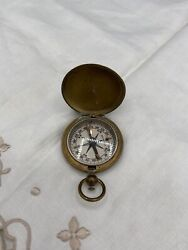 Vintage Wwii U.s Military Field Compass - Wittnauer - Pocket Watch Style