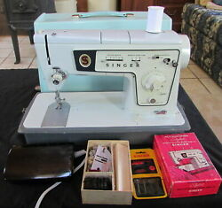 Vintage Classic Singer Special Zig Zag Model 478 Sewing Machine W/ Pedal And Case