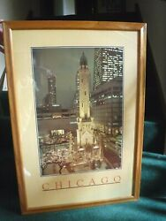 Chicago Water Tower Place Poster - 26 1/2 Wide X 38 1/2 Tall- Geography-framed