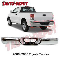 Chrome Steel Rear Step Bumper For 2000-2006 Toyota Tundra Pickup Truck To1102229