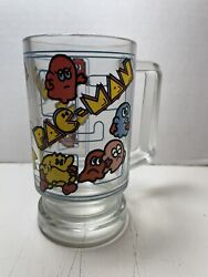 1980s Pac-man Glass Midway Houze Pacman Vintage Rare Inky Blinky Pinky Clyde