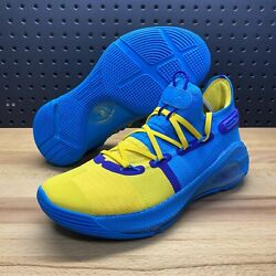 Under Armour Curry 6 Pe Family Business All Star Blue 3020612-310 Men's Size 8.5