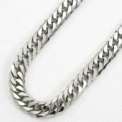 Platinum 850 Necklace About50cm Curb Chain 6sides Double Free Shipping Used