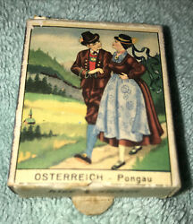 """Vintage Austrian Matches Box With Pull Tab. Each Match Is Approximately 1.25""""."""