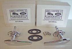 1928 1929 Model A Ford Outside Door Handle Set With Pads And Screws Coupe Sedan