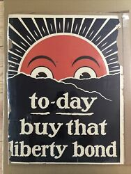Today Buy That Liberty Bond Poster Wwi Antique Vintage War Pinup Political Usa
