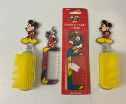 Vintage Disney Mickey Mouse Hair Brushes And Daisy And Donald Combs