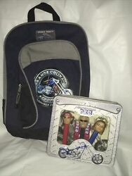 2006 Orange County Choppers Backpack And Pez Set Of 3 In Tin Box Sealed In Box