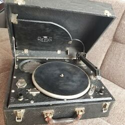 Antique Collectable Record Player Phonograph Vintage 78 Speed 1950 In Ny Works