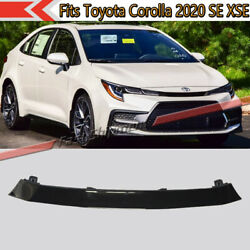 Fit 2020 Toyota Corolla Se Xse Glossy Black Front Upper Plastic Abs Grille Grill