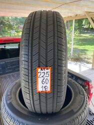 225-60r18 Set 4tires Michelin Primacy A/s 2021 Not Repairs